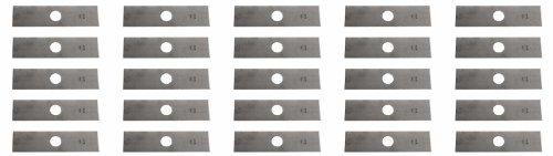 USA Mower Blades 25 8'x2' Unpainted Edger Blades for Echo 720237001, RYOBI 613223, Husqvarna: 578 39 28-02, 601 00 24-54
