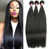 Brazilian Straight Hair 3 Bundles Virgin Human Hair Weave 100% Unprocessed Human Hair Extensions Natural Color Double Wefts Bundles 24 26 28inch