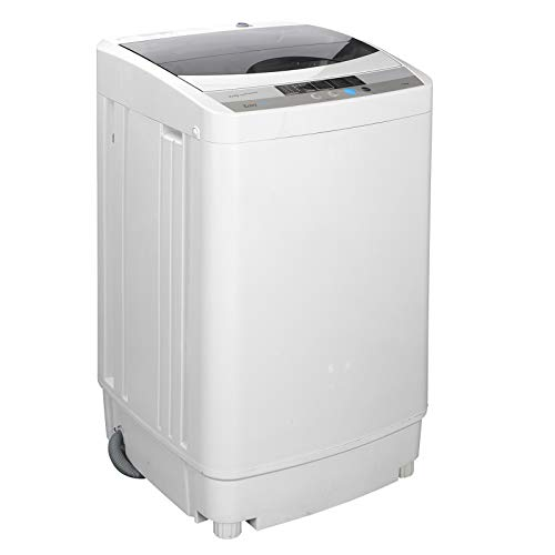 ZENY Compact Full Automatic Washing Machine w/Spin Dryer,2 in 1 Poratble Mini Laundry Washer 1.6 cu ft 8 Waterlevels