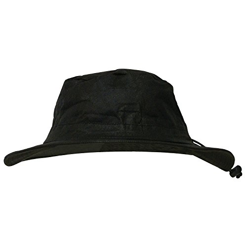Frogg Toggs Waterproof Breathable Bucket Hat, Black, Adjustable