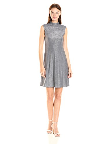 Playful dress with just the right of sparkle for the holiday season Made in USA