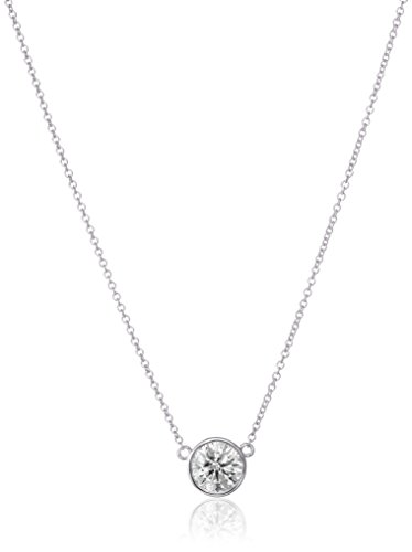 31PCv8ws9nL Cable-chain necklace featuring single bezel-set diamond solitaire pendant Lobster-claw clasp All our diamond suppliers confirm that they comply with the Kimberley Process to ensure that their diamonds are conflict free
