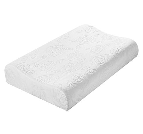 HouseStyle Latex Pillow Hypoallergenic 100% Natural Latex Pillow for Sleeping, Relieve Cervical Spine Pain, be Washable, Breathable, White