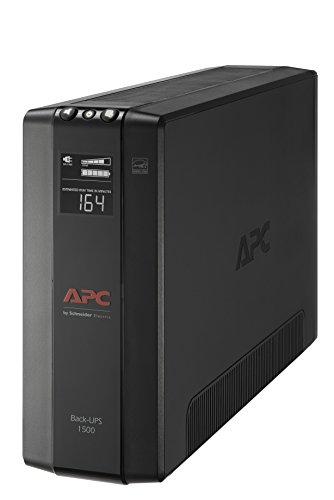 APC UPS Battery Backup & Surge Protector with AVR, 1500VA, APC Back-UPS Pro (BX1500M)