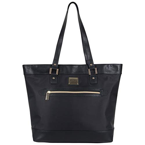Kenneth Cole Reaction Women's Runway Call Nylon-Twill Top Zip 16' Laptop & Tablet Business Tote, Black