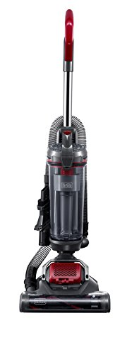 Black+Decker Light Weight Black & Decker BDASV102 AIRSWIVEL Ultra-LightWeight Upright Cleaner, Versatile Vacuum, Red,