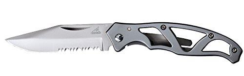 Gerber Paraframe Mini Knife, Serrated Edge, Stainless Steel [22-48484]