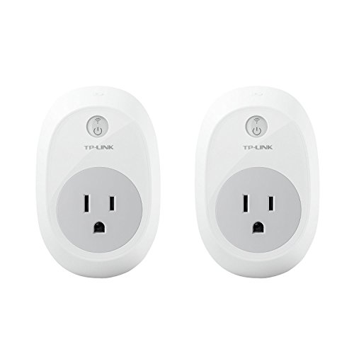 Kasa Smart WiFi Plug by TP-Link (2-Pack) - Reliable WiFi Connection, No Hub Required, Works with Alexa Echo & Google Assistant (HS100 KIT)