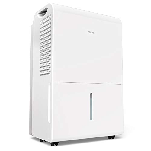 hOmeLabs 4000 Sq Ft Dehumidifier 70 Pint Energy Star Safe Mid Size Portable Dehumidifier for Basements & Large Rooms with Fan Wheels and Continuous Drain Hose Outlet to Remove Odor