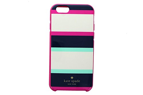 Kate Spade New York iPhone 6 & 6s  Case for smaller iPhone with 4.7' screen [Does not fit Larger iPhone 6 Plus with the 5.5' screen] - Multi Stripe Mint/Navy/Cream/Pink