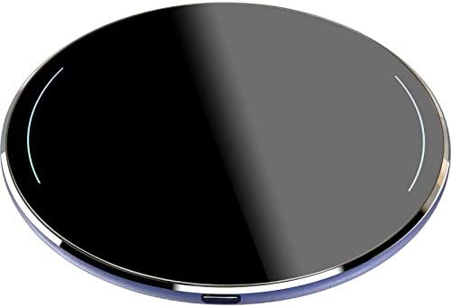 TOZO W1 Wireless Charger Thin Aviation Aluminum Computer Numerical Control Technology Fast Charging Pad Navy Blue (NO AC Adapter)