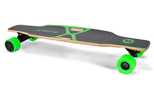 BLITZART X-Plore 38' Electric Skateboard Longboard E-Skateboard Motorized Electronic Skateboard 17mph 3.5' Brushless Hub-Motor Wheel (Green)