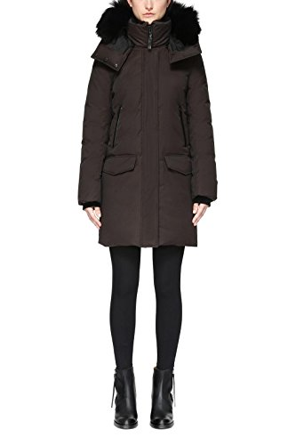 61MGJl1R2PL Weather Rating: -30°C/-22°F Dyed Sheepskin Fur Inner Collar Water Repellent and Resistant Fabric