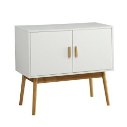 Convenience Concepts Oslo Storage Console, White / Woodgrain
