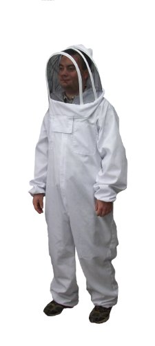 New Professional Large / XL Cotton Full Body Beekeeping Bee Keeping Suit, with Veil Hood By VIVO (BEE-V106)