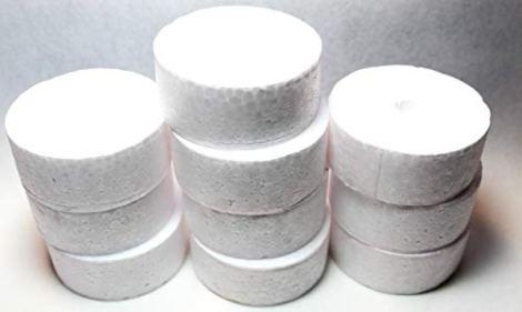 10 Dischi cilindrici in polistirolo