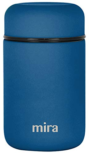 MIRA Lunch, Food Jar | Vacuum Insulated Stainless Steel Lunch Thermos | 13.5 oz | Denim
