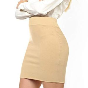 Made By Johnny Women's Elastic Waist Stretch Bodycon Midi Knee Length Pencil Skirt for Office- Made in USA 28 Fashion Online Shop gifts for her gifts for him womens full figure
