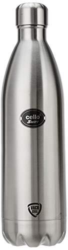 31SOjIuy1oL - Cello Swift Steel Flask, 1 Litre, Silver