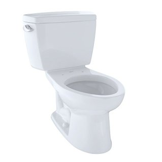 TOTO CST744SL#01 Drake 2-Piece Ada Toilet with Elongated Bowl, Cotton White