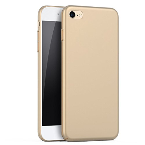 iBarbe iPhone 6 Case, iPhone 6s Case, Shock Absorption Scratch Resistant Bumper slim Hard Plastic Cover Case for apple iPhone 6 (2014)/iPhone 6s (2015) - Gold