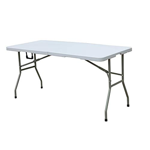 soges Folding Table 60 by 27.9 in, Portal Outdoor Folding Utility Table for Garden, Beach, Camping, Picnics, Cookouts, Party, Weatherproof, No Assembly and Easy to Carry, HP-152CZ