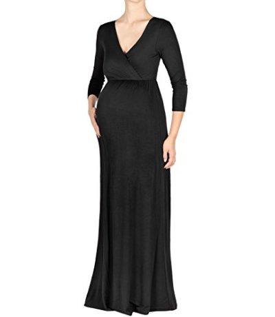 547f34593117a Beachcoco Maternity Women s V-Neck 3 4 Sleeve Nursing Maxi Dress - Only  Maternity
