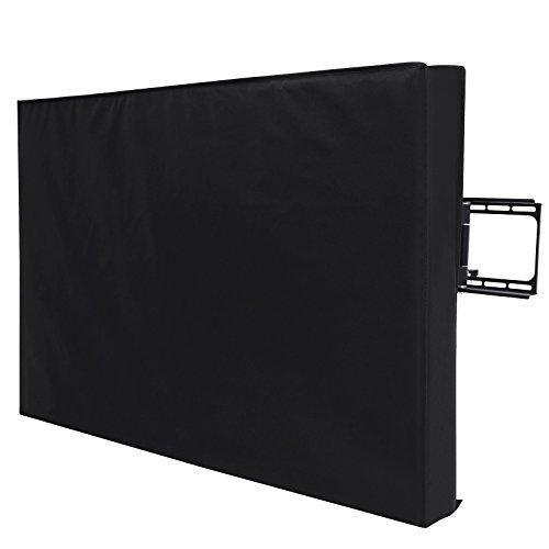 SONGMICS Outdoor TV Cover for 40'- 43' Wall Mounts TV, Weatherproof and Dustproof Black UGTR42B