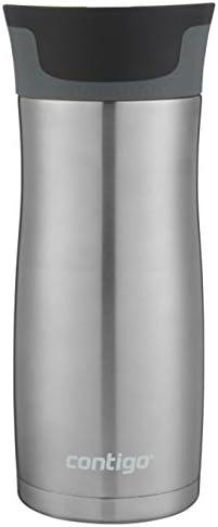 31Tu0WAqDoL. AC  - Contigo Jackson–Botella de agua reutilizable, 2 unidades, Matte Black & Stainless Steel, 473,18ml, 1 #Amazon
