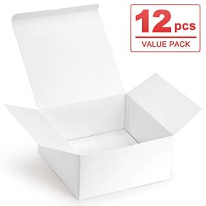 ValBox Premium Gift Boxes 12 Pack 8 x 8 x 4″ White Paper Gift Boxes with Lids for Gifts, Crafting Cupcake Boxes, Easy Assemble Boxes 31U161DqVnL