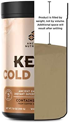 Ancient Nutrition KetoCOLDBREW Energy Elixir Powder, 20 Servings, Keto Diet Supplement, MCTs from Coconut, Coffee Beans, Energy Booster 7