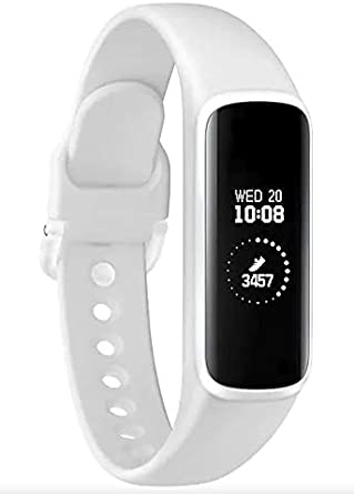 Samsung Galaxy Fit E 2019, Fitness Band, Pedometer, Heart Rate & Sleep Tracker, PMOLED Display, 5ATM Water Resistance, MIL-STD-810G, Bluetooth Active SM-R375 - International Version