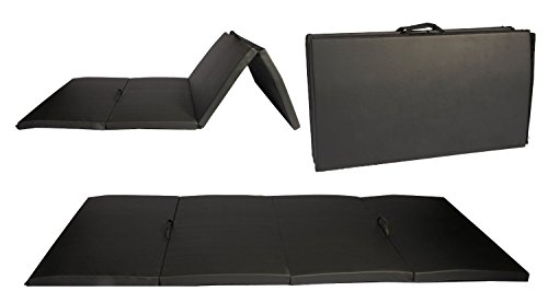 BestMassage Black 4'x8'x2 Thick Folding Panel Gymnastic Mat Gym Fitness Exercise Mat R4