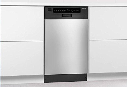 Frigidaire FFBD1821MS 18 Built-in Dishwasher, Black/Silver