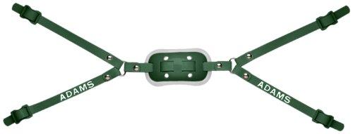 Adams USA High Hook Up Gel 4 Point Football Varsity Chinstrap, Dark Green