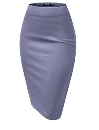 e48e627f0ff8 TWINTH-Women-Stretch-Knit-Midi-Bodycon-Pencil-Skirt-. TWINTH-Pencil-Skirts- Plus-Size-Casual-Skirt-Elastic-