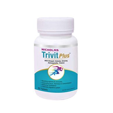 Nicholas-Nutraceuticals-Trivit-Plus-Multivitamin-Tablet-with-Omega-3-Ginkgo-Biloba-Ginseng-Ashwagandha-Multi-Vitamin-Supplement-with-Natural-Herb-Extract-for-Men-Women-60-Tablets