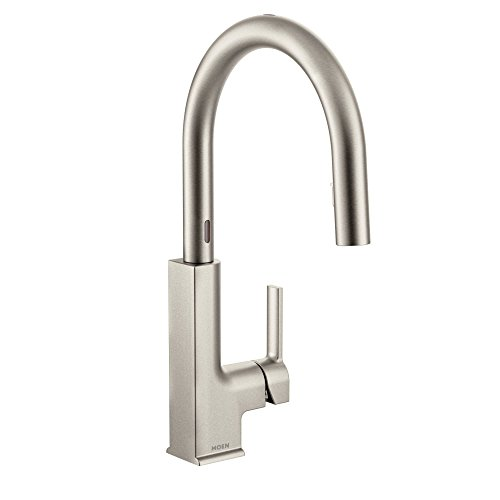 Moen S72308ESRS STo Motionsense Two-Sensor Touchless One-Handle Pulldown Kitchen Faucet Featuring Reflex, Spot Resist Stainless