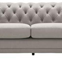 Amazon Brand – Stone & Beam Bradbury Chesterfield Classic Sofa, 92.9″W, Slate