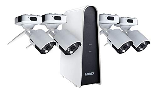 Lorex 1080p HD Wire Free Camera System, 4 Rechargable Outdoor Cameras, 6-Channel DVR