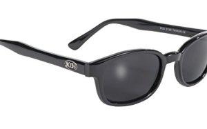 Pacific Coast Original KD's Biker Sunglasses (Black Frame/Dark Grey Lens)