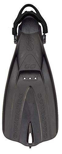 SCUBAPRO GO Travel Fins (Black, X-Large)