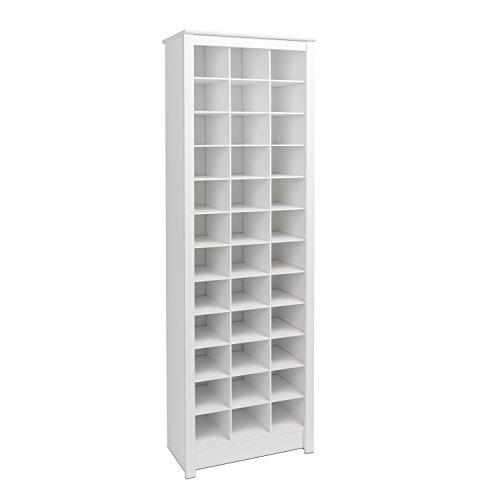 Prepac WUSR-0009-1 Shoe Storage Cabinet, 36 Pair Rack, White