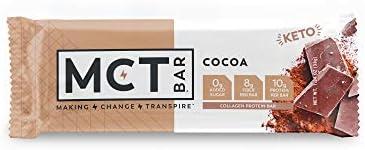 MCTBar Cocoa Keto Protein Bar | 0g Added Sugar, 2-3g Net Carbs, 10g Protein, 7g Fiber | Grass Fed Collagen (24 Pack) 3