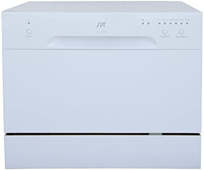 Sunpentown SD-2213W Countertop Dishwasher in White, Gray