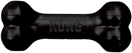 KONG - Extreme Goodie Bone - Hueso para Perro de Caucho, mandíbulas potentes, Negro - para Perros Medianos