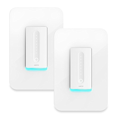 Wemo Dimmer Wi-Fi Light Switch, Compatible with Alexa and Google Assistant (Certified Refurbished) (2-Pack)