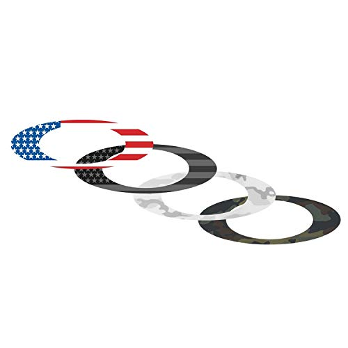 Oakley Unisex-Adult Sticker Pack Small USA Flag/camo Replacement Lenses, USA, 0 mm