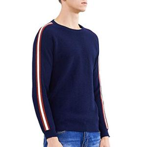 black-shop New Warm Sweater Men Fashion Patchwork Sweater Male Winter Quality Pullover