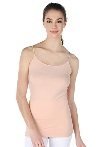 NIKIBIKI Women's Seamless Premium Classic Camisole, Made in U.S.A, One Size (Cloud Pink)